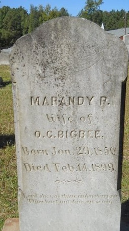 BIGBEE, MARANDY P - Webster County, Louisiana   MARANDY P BIGBEE - Louisiana Gravestone Photos