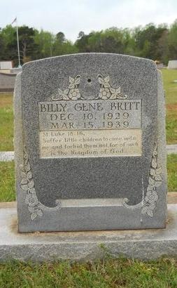 BRITT, BILLY GENE - Webster County, Louisiana | BILLY GENE BRITT - Louisiana Gravestone Photos