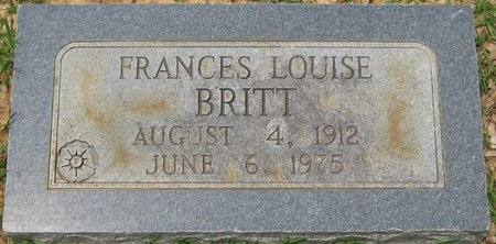 BRITT, FRANCES LOUISE - Webster County, Louisiana | FRANCES LOUISE BRITT - Louisiana Gravestone Photos