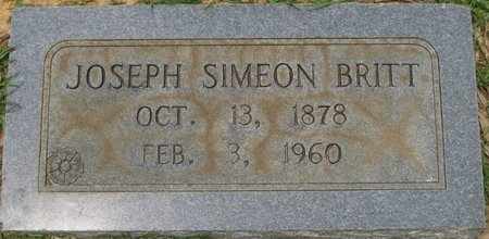BRITT, JOSEPH SIMEON - Webster County, Louisiana | JOSEPH SIMEON BRITT - Louisiana Gravestone Photos