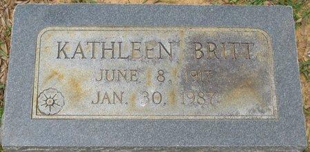BRITT, KATHLEEN - Webster County, Louisiana   KATHLEEN BRITT - Louisiana Gravestone Photos