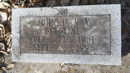 BRITTINE, JOHNNIE RAY - Webster County, Louisiana | JOHNNIE RAY BRITTINE - Louisiana Gravestone Photos