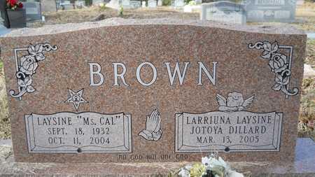 BROWN, LARRIUNA LAYSINE - Webster County, Louisiana | LARRIUNA LAYSINE BROWN - Louisiana Gravestone Photos