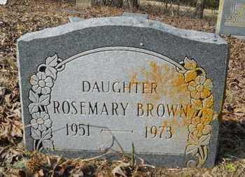 BROWN, ROSEMARY - Webster County, Louisiana | ROSEMARY BROWN - Louisiana Gravestone Photos