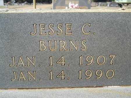 BURNS, JESSE C (CLOSE UP) - Webster County, Louisiana   JESSE C (CLOSE UP) BURNS - Louisiana Gravestone Photos