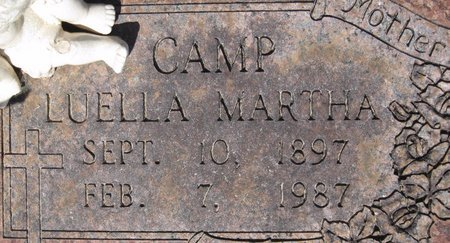 CAMP, LUELLA MARTHA (CLOSE UP) - Webster County, Louisiana | LUELLA MARTHA (CLOSE UP) CAMP - Louisiana Gravestone Photos