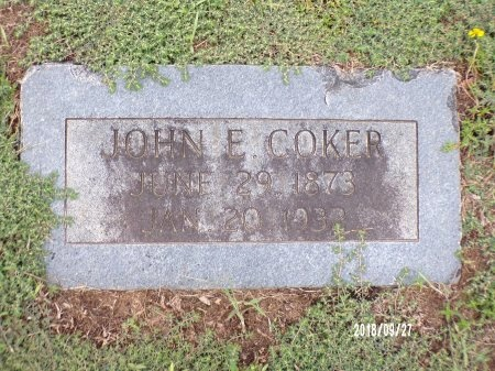COKER, JOHN EWIN - Webster County, Louisiana | JOHN EWIN COKER - Louisiana Gravestone Photos