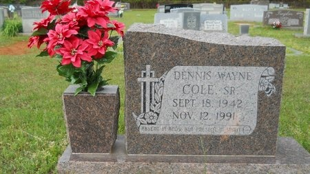 COLE, DENNIS WAYNE, SR - Webster County, Louisiana | DENNIS WAYNE, SR COLE - Louisiana Gravestone Photos