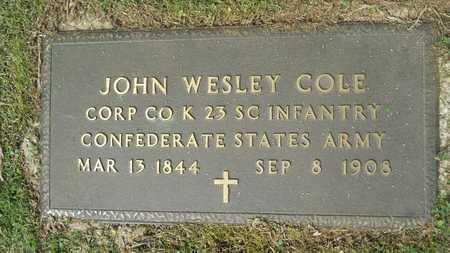 COLE, JOHN WESLEY (VETERAN CSA) - Webster County, Louisiana   JOHN WESLEY (VETERAN CSA) COLE - Louisiana Gravestone Photos