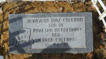 COLEMAN, JA'KAYLON DIAZ - Webster County, Louisiana | JA'KAYLON DIAZ COLEMAN - Louisiana Gravestone Photos