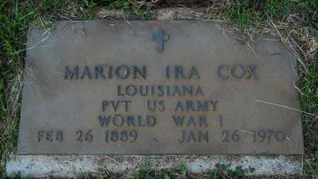 COX, MARION IRA (VETERAN WWI) - Webster County, Louisiana | MARION IRA (VETERAN WWI) COX - Louisiana Gravestone Photos