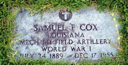 COX, SAMUEL F (VETERAN WWI) - Webster County, Louisiana | SAMUEL F (VETERAN WWI) COX - Louisiana Gravestone Photos