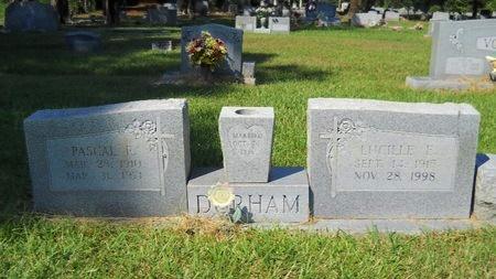 DURHAM, LUCILLE E - Webster County, Louisiana | LUCILLE E DURHAM - Louisiana Gravestone Photos