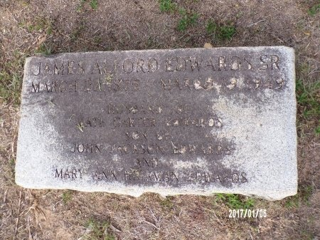 EDWARDS, JAMES ALFORD, SR - Webster County, Louisiana | JAMES ALFORD, SR EDWARDS - Louisiana Gravestone Photos