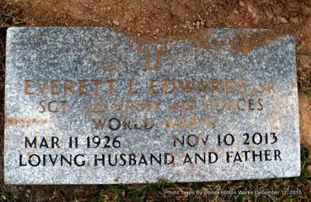 EDWARDS, EVERETT LEE, JR  (VETERAN WWII) - Webster County, Louisiana   EVERETT LEE, JR  (VETERAN WWII) EDWARDS - Louisiana Gravestone Photos