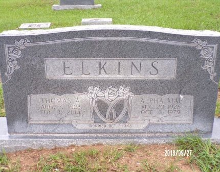 ELKINS, ALPHA MAE - Webster County, Louisiana | ALPHA MAE ELKINS - Louisiana Gravestone Photos