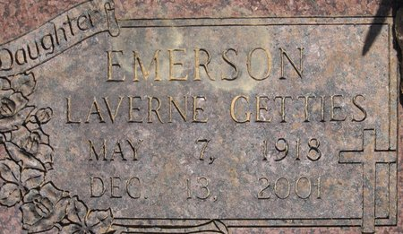 EMERSON, LAVERNE GETTIES - Webster County, Louisiana | LAVERNE GETTIES EMERSON - Louisiana Gravestone Photos