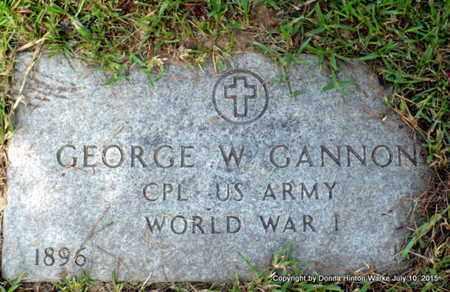 GANNON, GEORGE W (VETERAN WWI) - Webster County, Louisiana | GEORGE W (VETERAN WWI) GANNON - Louisiana Gravestone Photos