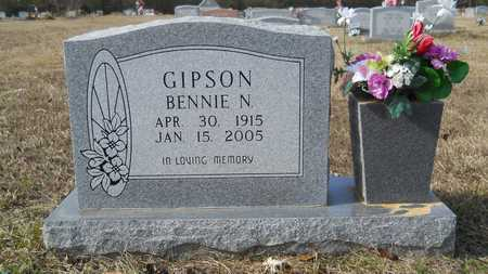 GIPSON, BENNIE N - Webster County, Louisiana | BENNIE N GIPSON - Louisiana Gravestone Photos