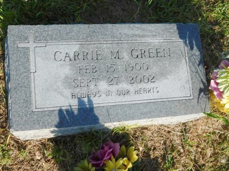 GREEN, CARRIE M - Webster County, Louisiana   CARRIE M GREEN - Louisiana Gravestone Photos