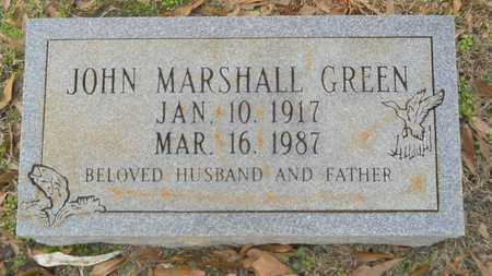 GREEN, JOHN MARSHALL - Webster County, Louisiana | JOHN MARSHALL GREEN - Louisiana Gravestone Photos