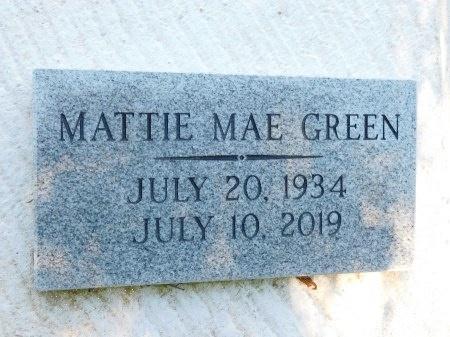 GREEN, MATTIE MAE - Webster County, Louisiana | MATTIE MAE GREEN - Louisiana Gravestone Photos