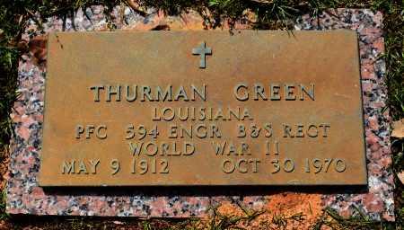 GREEN , THURMAN (VETERAN WWII) - Webster County, Louisiana   THURMAN (VETERAN WWII) GREEN  - Louisiana Gravestone Photos