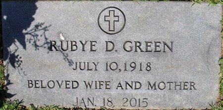 GREEN, RUBYE D - Webster County, Louisiana   RUBYE D GREEN - Louisiana Gravestone Photos
