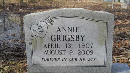 GRIGSBY, ANNIE - Webster County, Louisiana | ANNIE GRIGSBY - Louisiana Gravestone Photos
