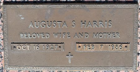 HARRIS, AUGUSTA S (CLOSE UP) - Webster County, Louisiana | AUGUSTA S (CLOSE UP) HARRIS - Louisiana Gravestone Photos
