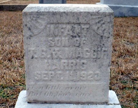 HARRIS, INFANT SON - Webster County, Louisiana | INFANT SON HARRIS - Louisiana Gravestone Photos