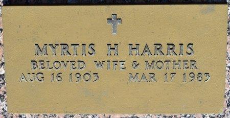 HARRIS, MYRTIS H (CLOSE UP) - Webster County, Louisiana | MYRTIS H (CLOSE UP) HARRIS - Louisiana Gravestone Photos