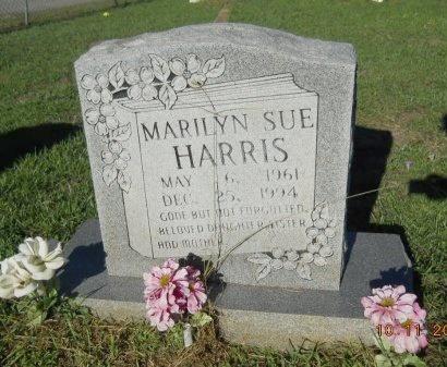 HARRIS, MARILYN SUE - Webster County, Louisiana   MARILYN SUE HARRIS - Louisiana Gravestone Photos