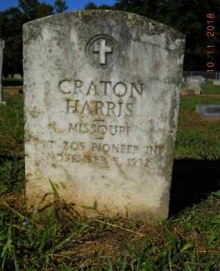 HARRIS  , CRATON (VETERAN) - Webster County, Louisiana | CRATON (VETERAN) HARRIS   - Louisiana Gravestone Photos