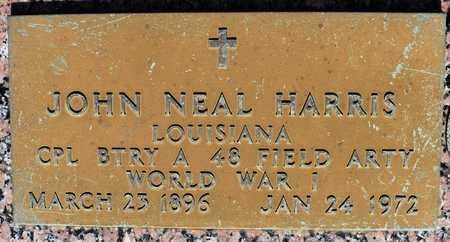 HARRIS, JOHN NEAL (VETERAN WWI) - Webster County, Louisiana   JOHN NEAL (VETERAN WWI) HARRIS - Louisiana Gravestone Photos