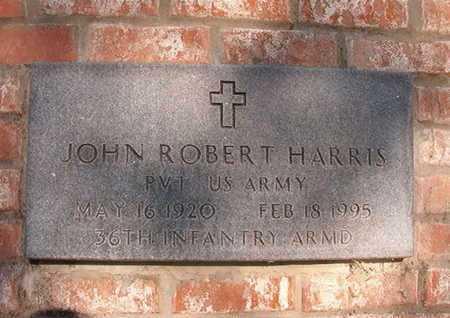HARRIS, JOHN ROBERT (VETERAN)(CLOSE UP) - Webster County, Louisiana   JOHN ROBERT (VETERAN)(CLOSE UP) HARRIS - Louisiana Gravestone Photos