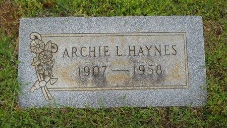 HAYNES, ARCHIE L - Webster County, Louisiana | ARCHIE L HAYNES - Louisiana Gravestone Photos