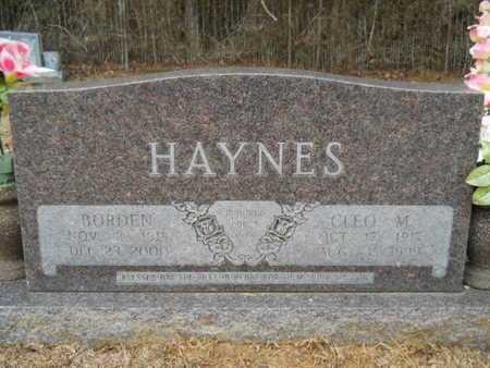HAYNES, CLEO M - Webster County, Louisiana | CLEO M HAYNES - Louisiana Gravestone Photos