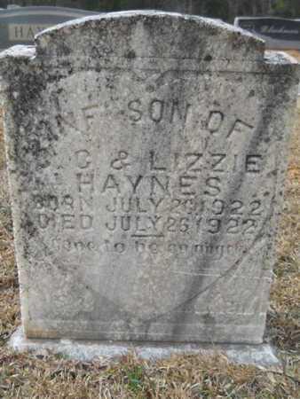 HAYNES, INFANT SON - Webster County, Louisiana   INFANT SON HAYNES - Louisiana Gravestone Photos