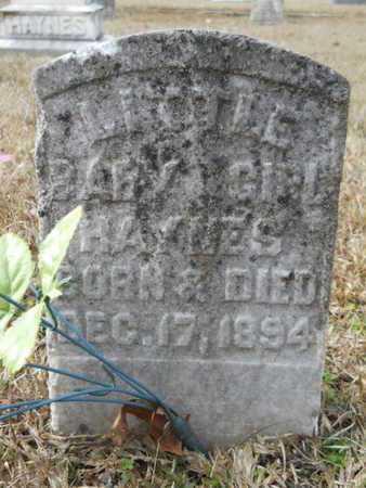 HAYNES, INFANT DAUGHTER - Webster County, Louisiana | INFANT DAUGHTER HAYNES - Louisiana Gravestone Photos