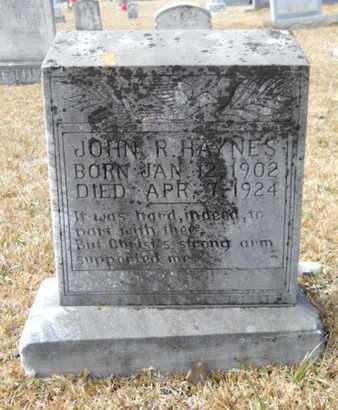 HAYNES, JOHN R - Webster County, Louisiana | JOHN R HAYNES - Louisiana Gravestone Photos