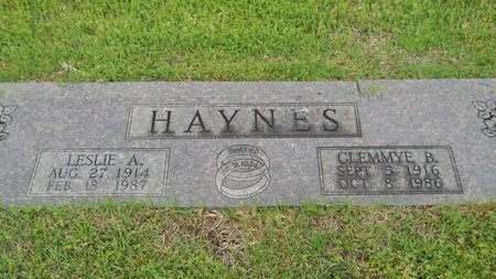 HAYNES, LESLIE A - Webster County, Louisiana | LESLIE A HAYNES - Louisiana Gravestone Photos