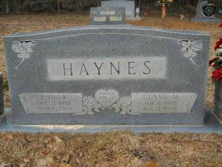 HAYNES, LUTHER DREW - Webster County, Louisiana | LUTHER DREW HAYNES - Louisiana Gravestone Photos