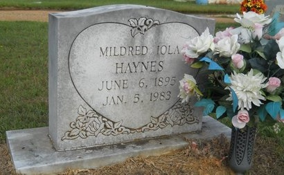 HAYNES, MILDRED IOLA - Webster County, Louisiana   MILDRED IOLA HAYNES - Louisiana Gravestone Photos