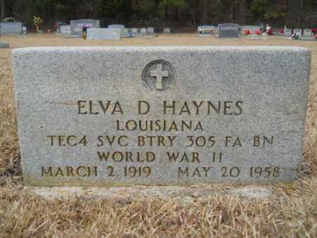 HAYNES, ELVA D (VETERAN WWII) - Webster County, Louisiana | ELVA D (VETERAN WWII) HAYNES - Louisiana Gravestone Photos