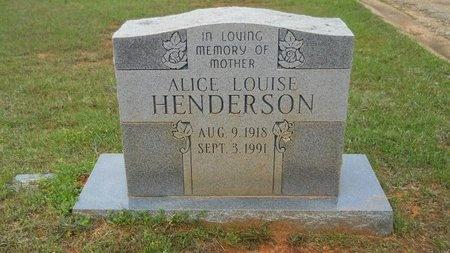 HENDERSON, ALICE LOUISE - Webster County, Louisiana | ALICE LOUISE HENDERSON - Louisiana Gravestone Photos