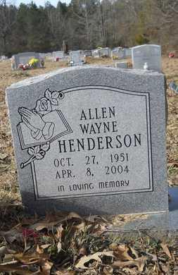 HENDERSON, ALLEN WAYNE - Webster County, Louisiana | ALLEN WAYNE HENDERSON - Louisiana Gravestone Photos