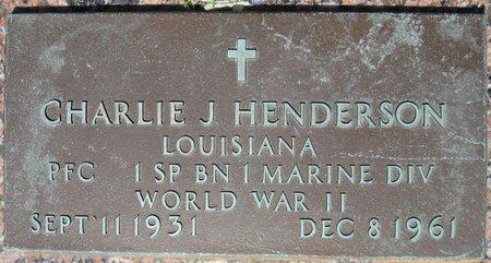 HENDERSON, CHARLIE J (VETERAN WWII) - Webster County, Louisiana | CHARLIE J (VETERAN WWII) HENDERSON - Louisiana Gravestone Photos