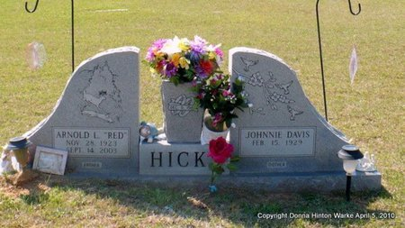 """HICKS, ARNOLD LOVON """"RED"""" - Webster County, Louisiana 