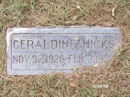 HICKS, GERALDINE - Webster County, Louisiana | GERALDINE HICKS - Louisiana Gravestone Photos